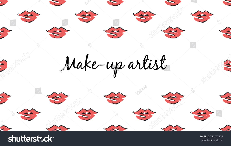 Makeup Artist Banner Business Card Concept Stock Vector 780777274 ...