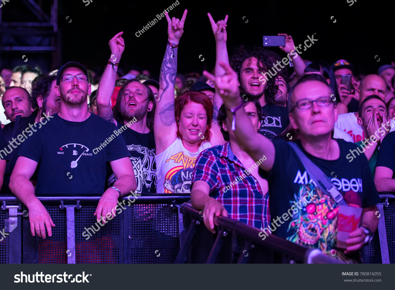 Madrid Jun 23 The Crowd In A Concert At Download Heavy Metal