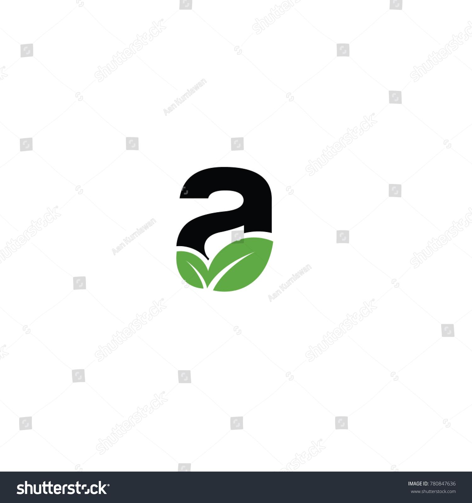 Font logo leaf vector logo template stock vector 780847636 a font logo leaf vector logo template biocorpaavc Gallery