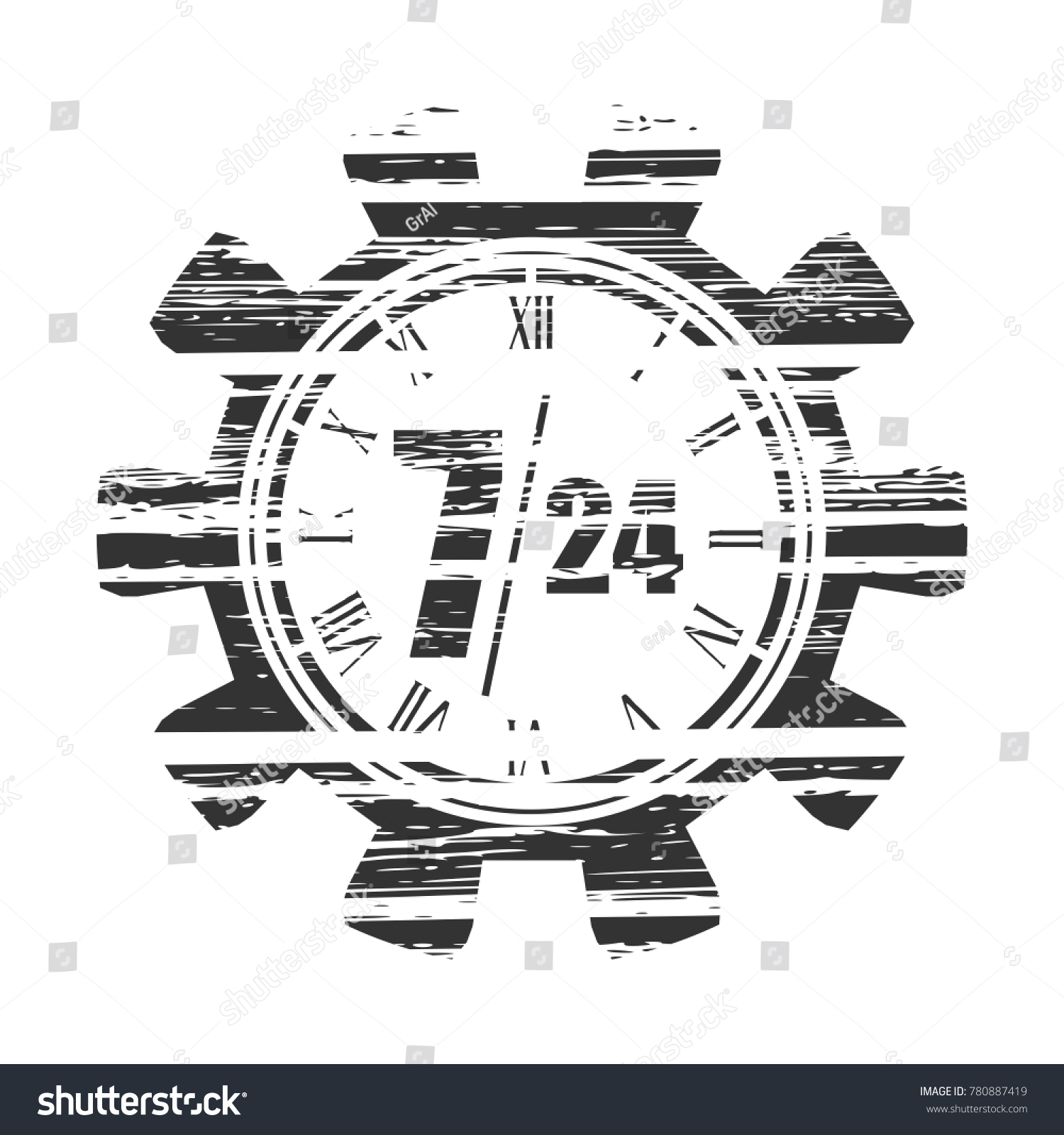 support twenty for four stock retail text infinity arrow in days gears seven open photo grunge customer mode operation texture hour icon and time service