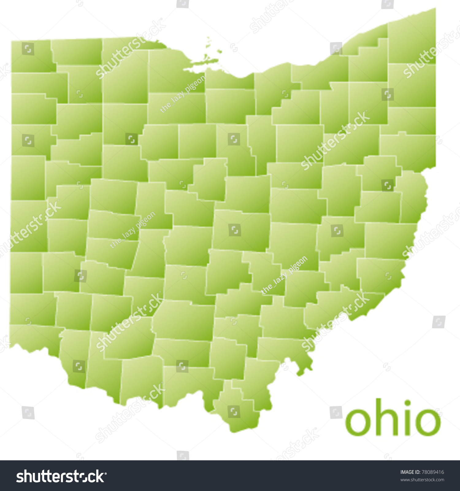 Map Ohio State Usa Stock Vector Shutterstock - Ohio usa map