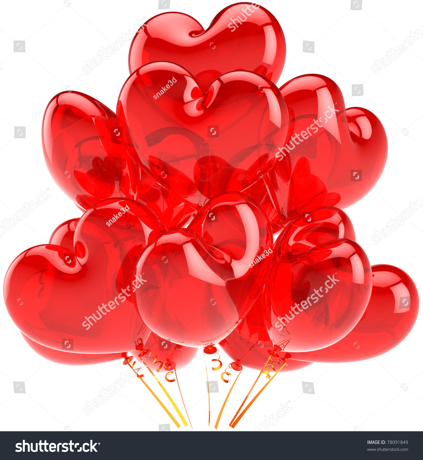 Party balloons red balloon heart shaped stock illustration 78091849 party balloons red balloon heart shaped celebrate decoration happy birthday romantic greeting card love m4hsunfo