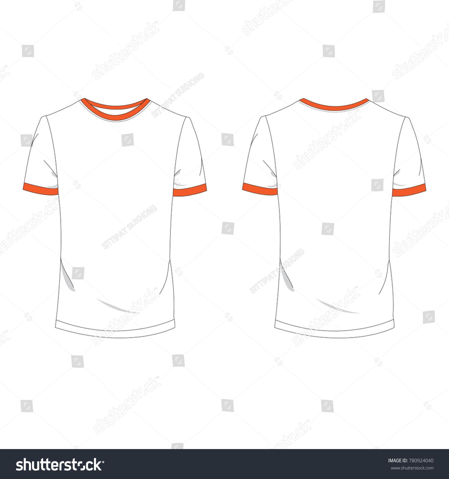 Twotone Orange White Tshirt Template Using Stock Vector Royalty