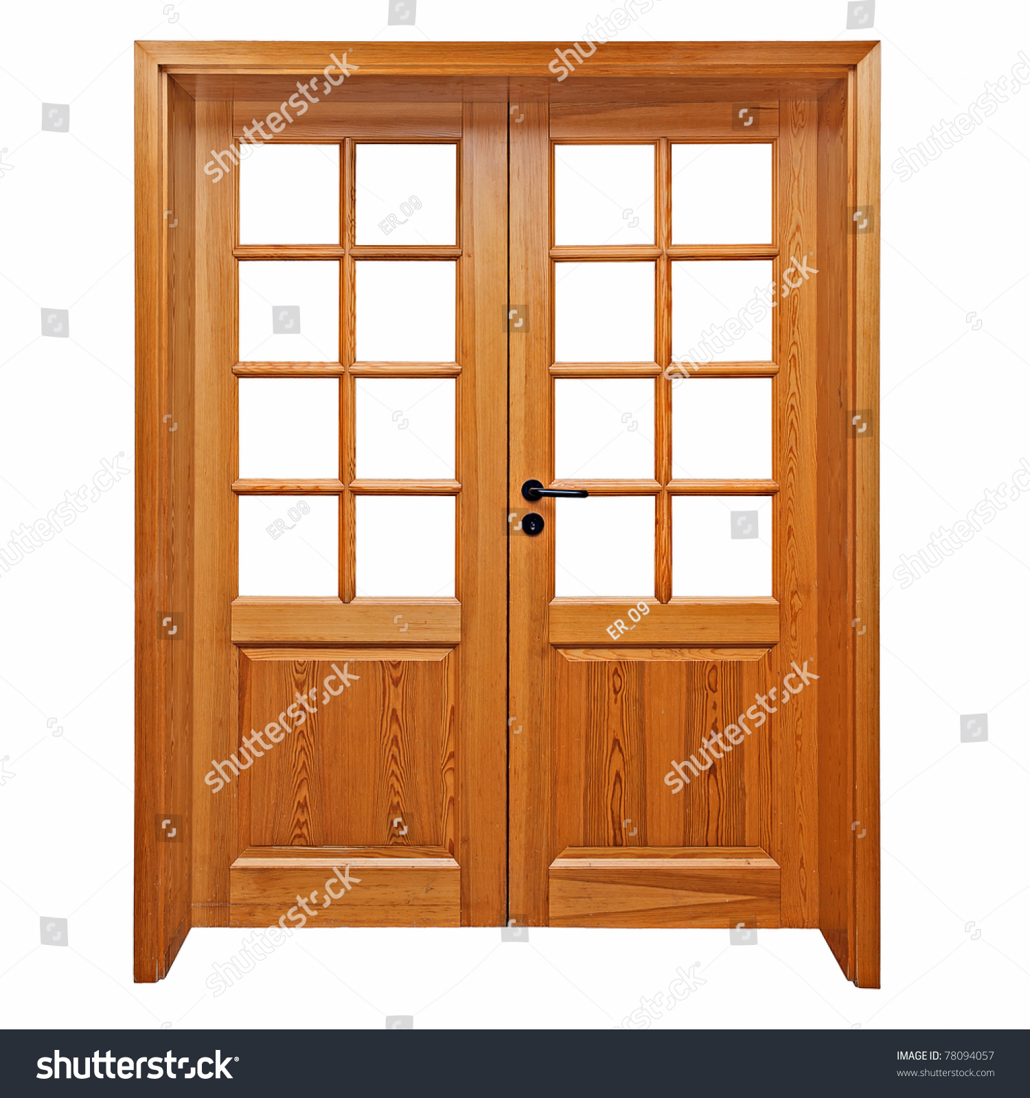 Double Wooden Doors Isolated On White Stock Photo Edit Now