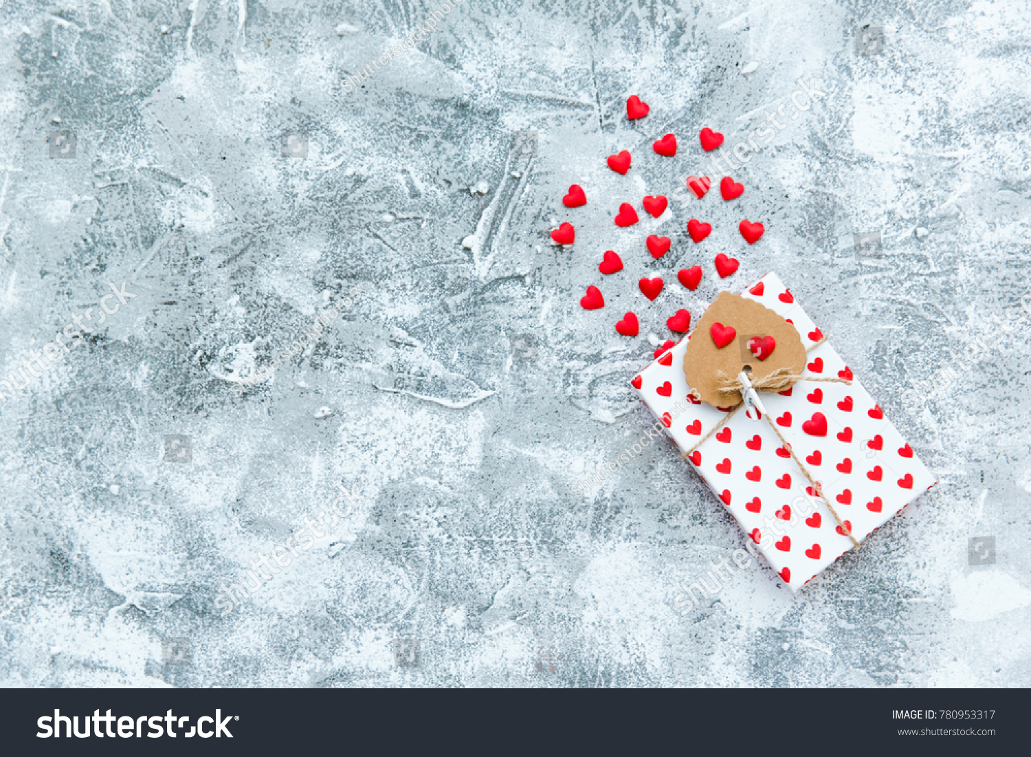 Valentine Day Composition Gift Box Red Stock Photo Edit Now