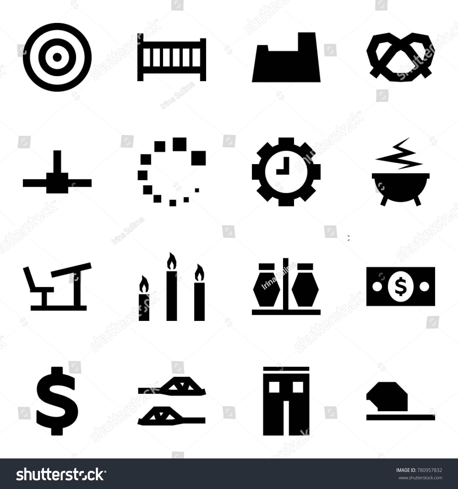 d03e55c1 Origami style icon set - target vector, crib, potty, pretzel, connect,