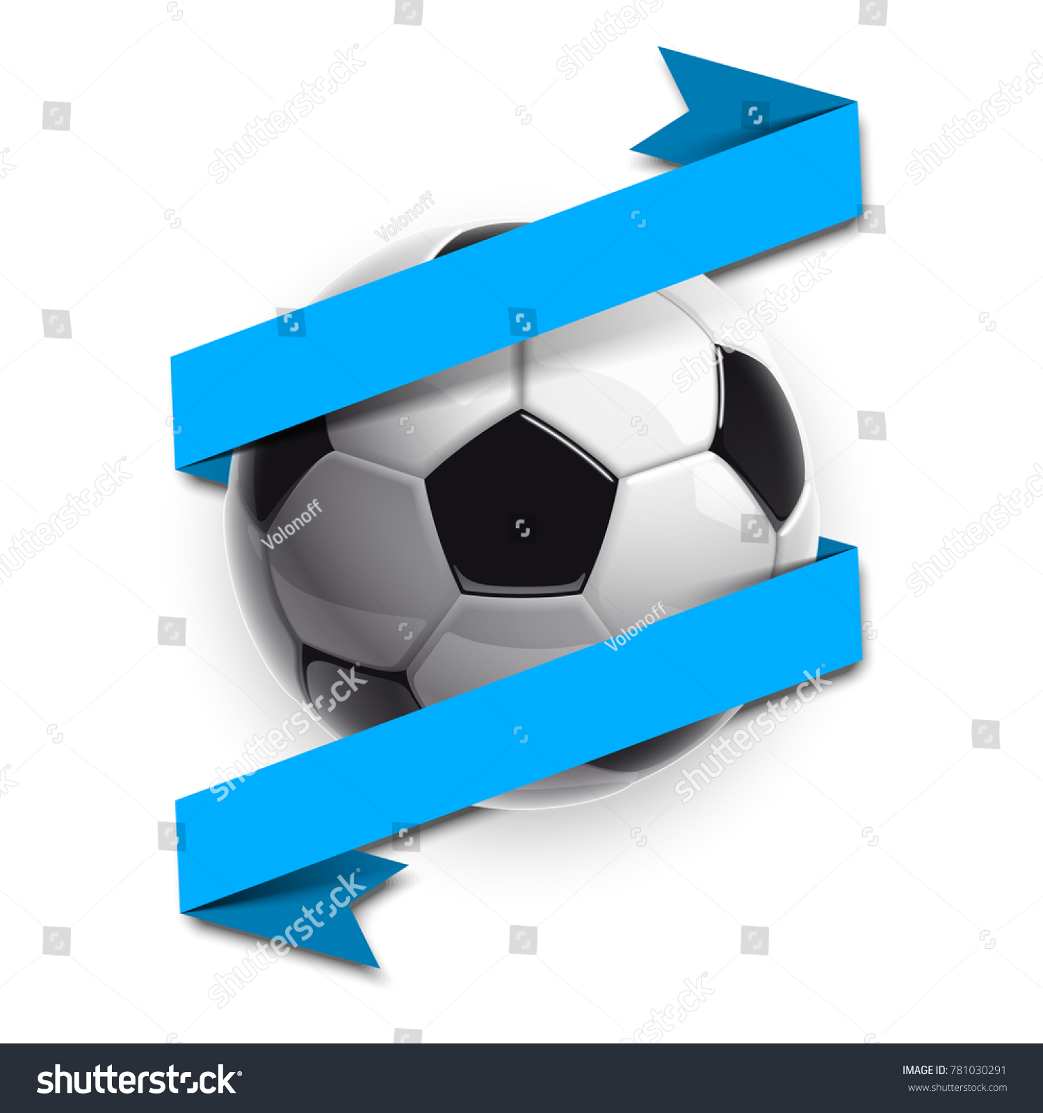 Football championship design banner illustration banner stock football championship design banner illustration banner with logo realistic soccer ball and a blue stripe biocorpaavc Image collections