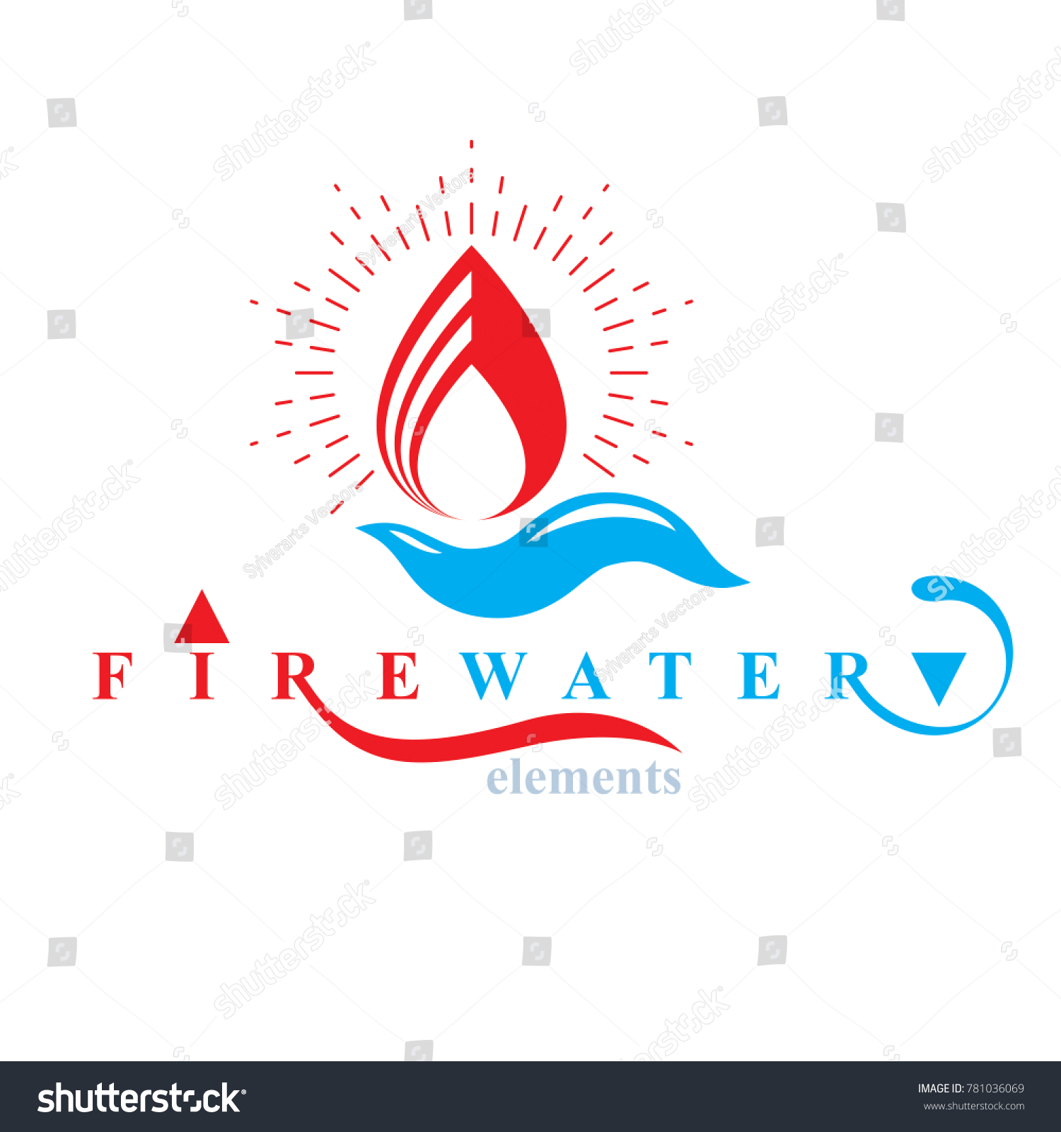 Nature elements balance conceptual emblem use stock illustration nature elements balance conceptual emblem for use as marketing design symbol fire and water harmony biocorpaavc Choice Image