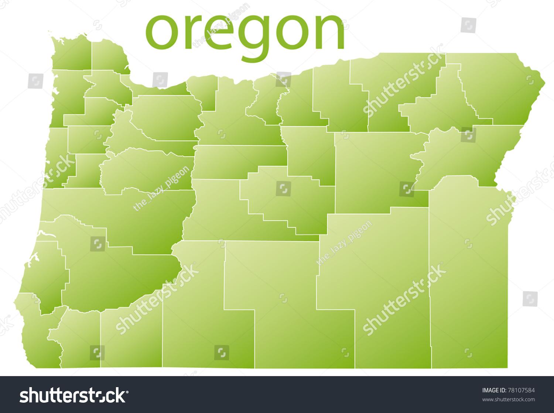 Map Oregon State Usa Stock Illustration 78107584 - Shutterstock