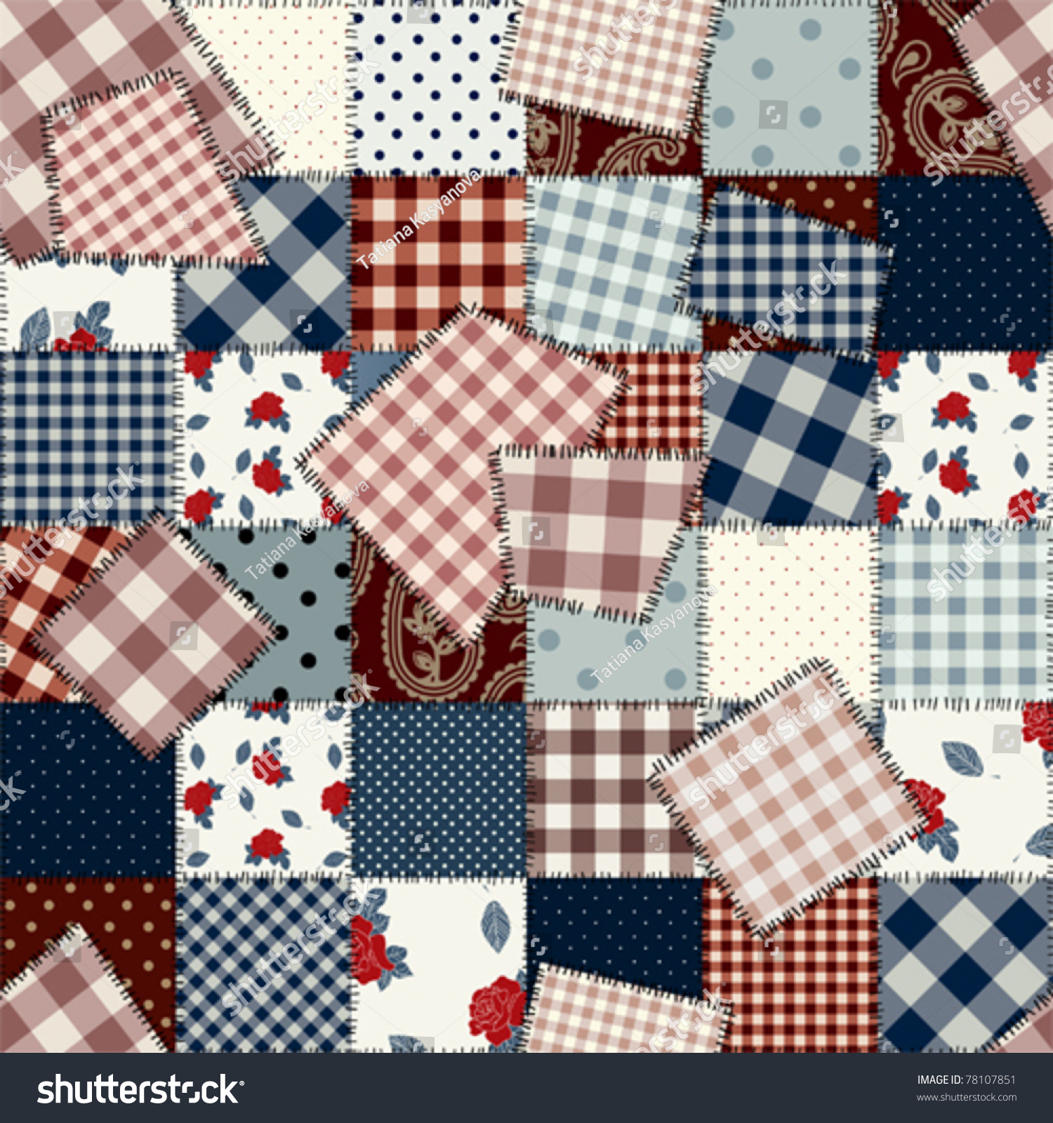 Seamless Background Pattern Will Tile Endlessly Stock
