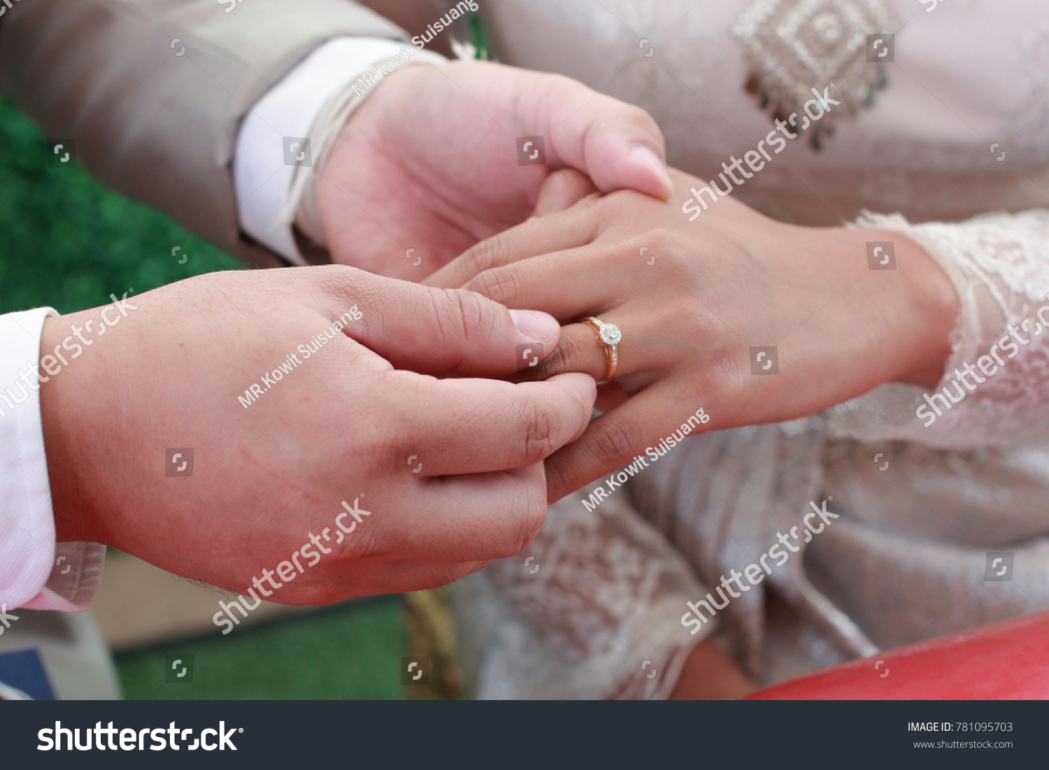Men Wearing Wedding Rings Women Symbol Stock Photo (Edit Now ...