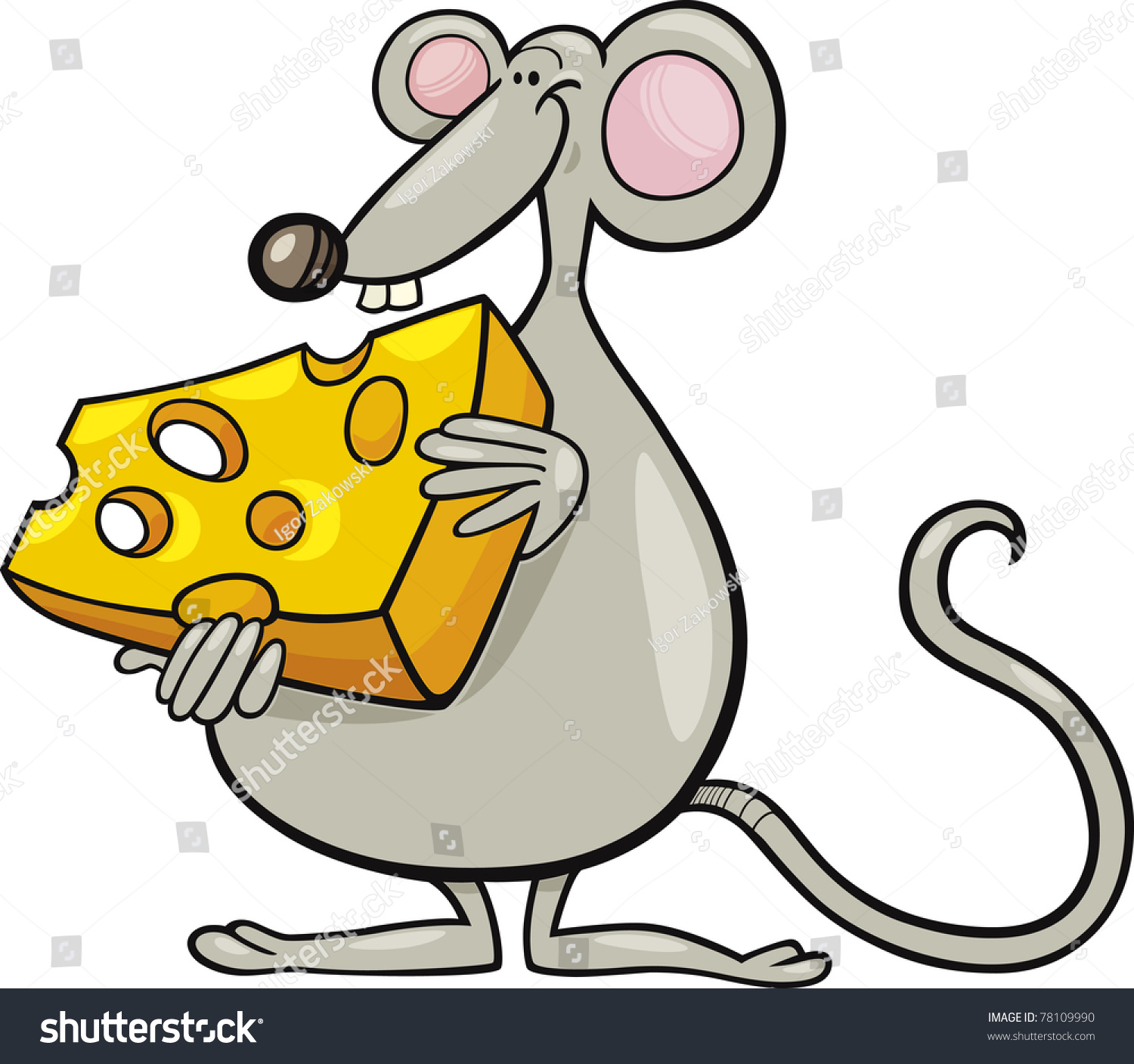 clipart mouse eating cheese - photo #36