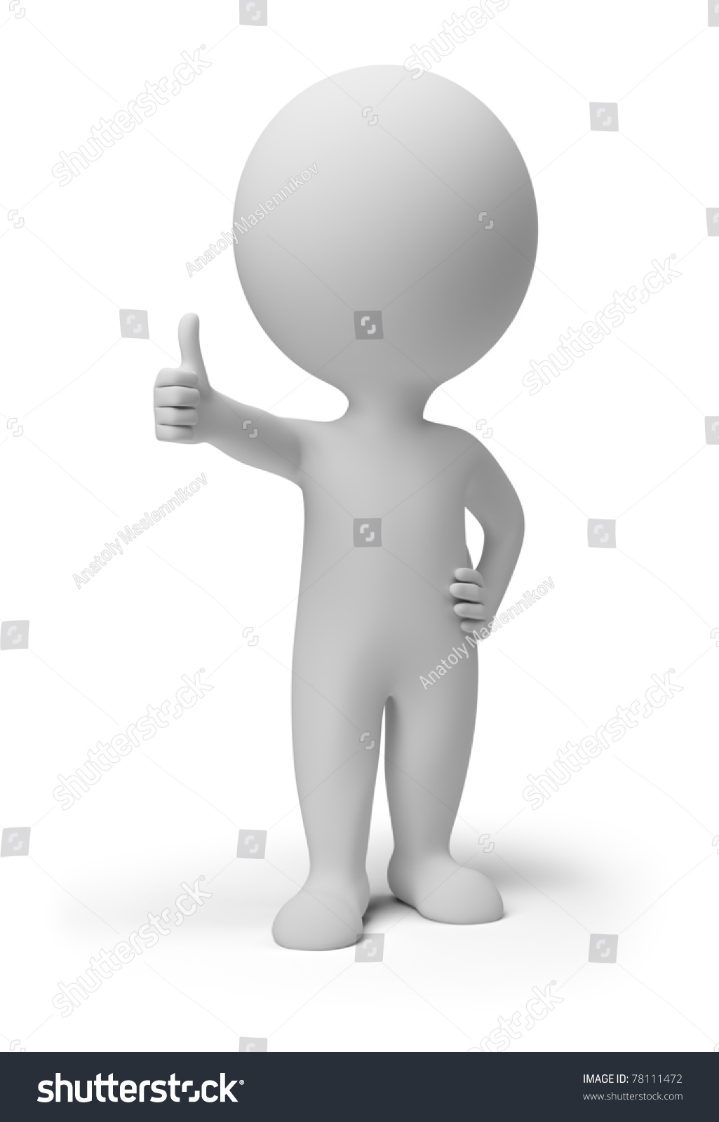 small headed person