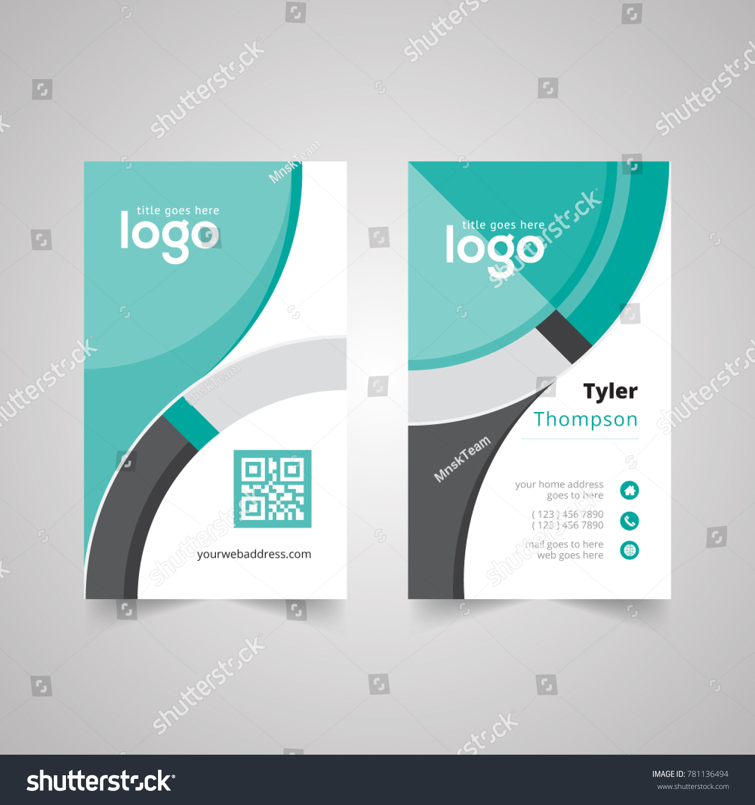 abstract vertical simple creative design business stock vector