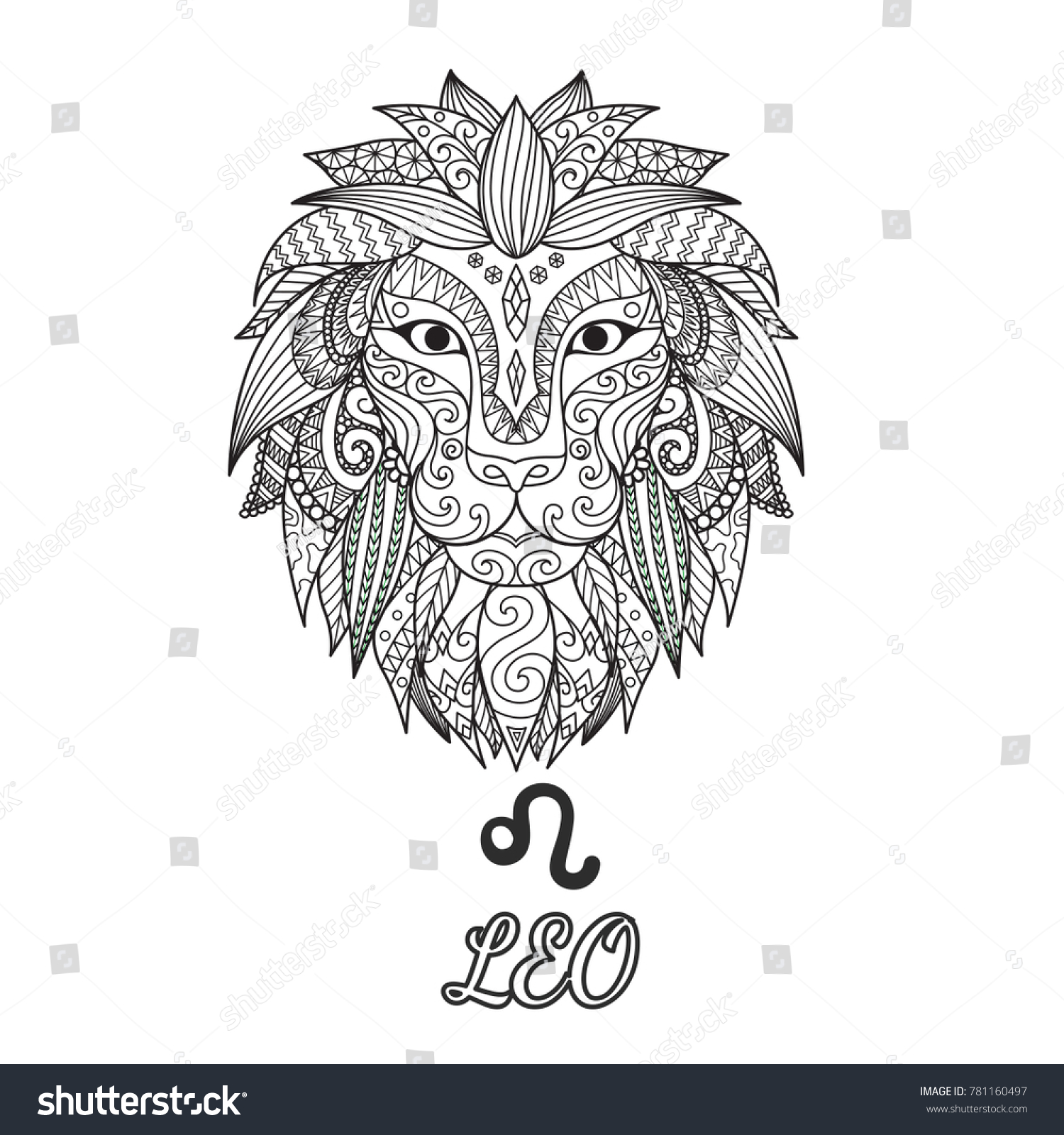 770f028ac Leo Zodiac Coloring Pages