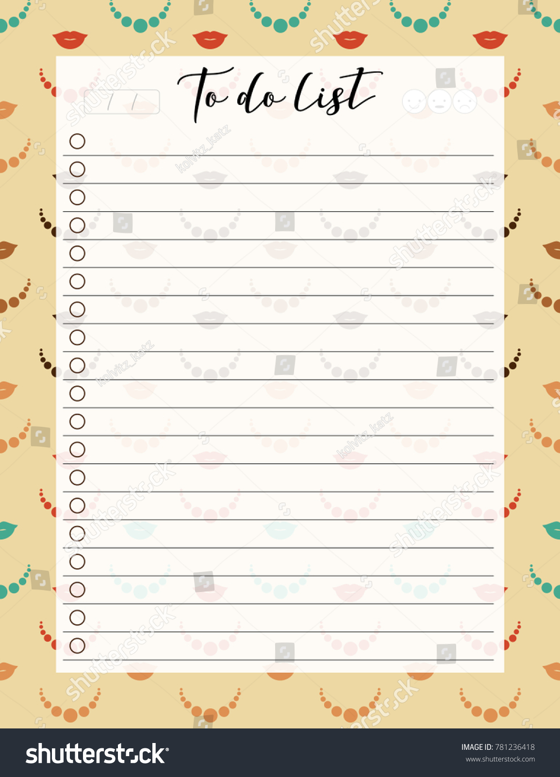 vintage a 4 template do list lettering stock vector royalty free