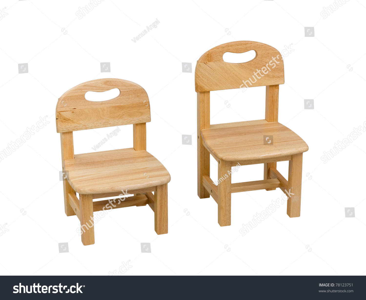A Small Wooden Chair For Kid