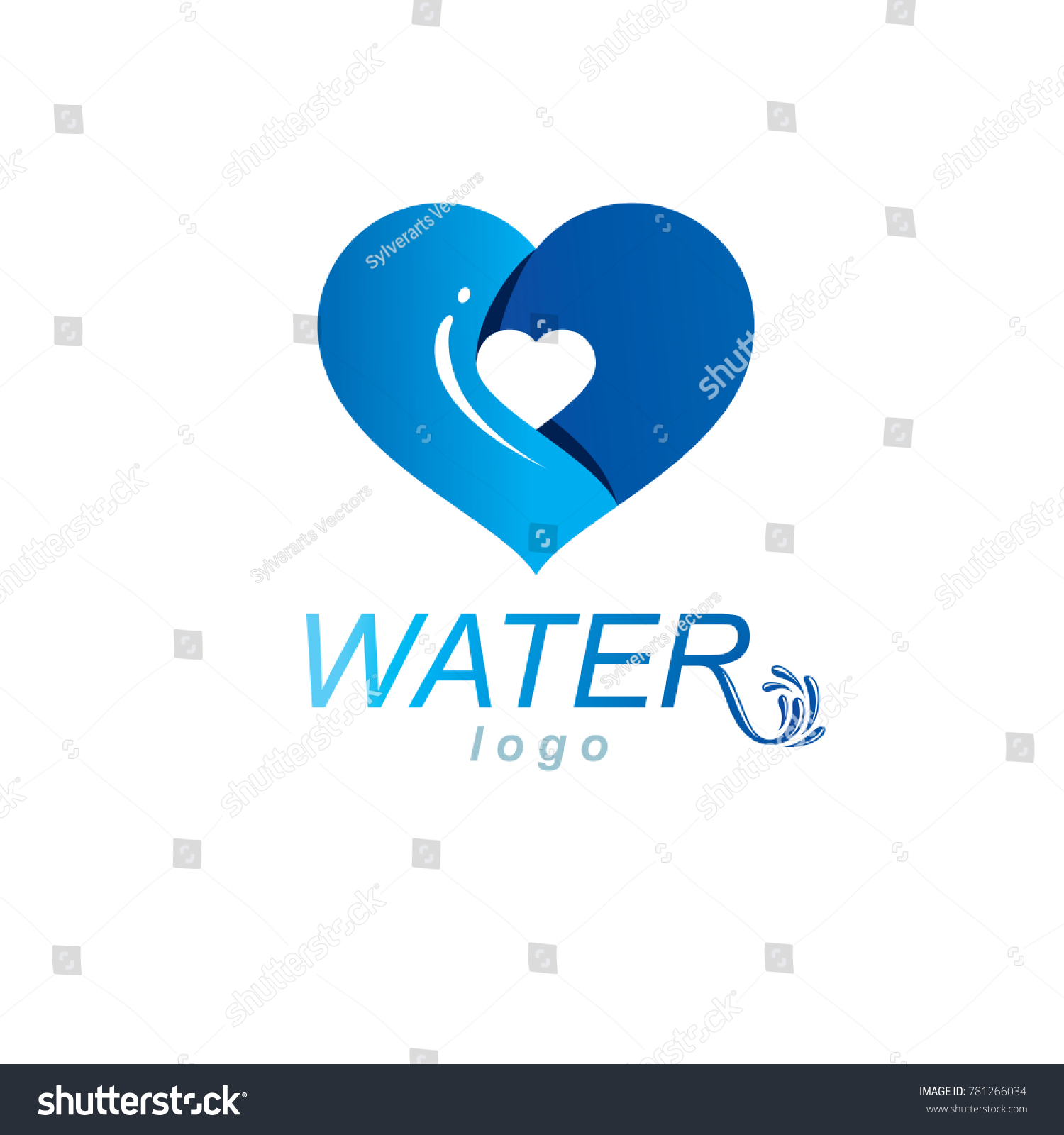 Ocean freshness theme symbol use mineral stock illustration ocean freshness theme symbol for use in mineral water advertising living in harmony with nature biocorpaavc Gallery