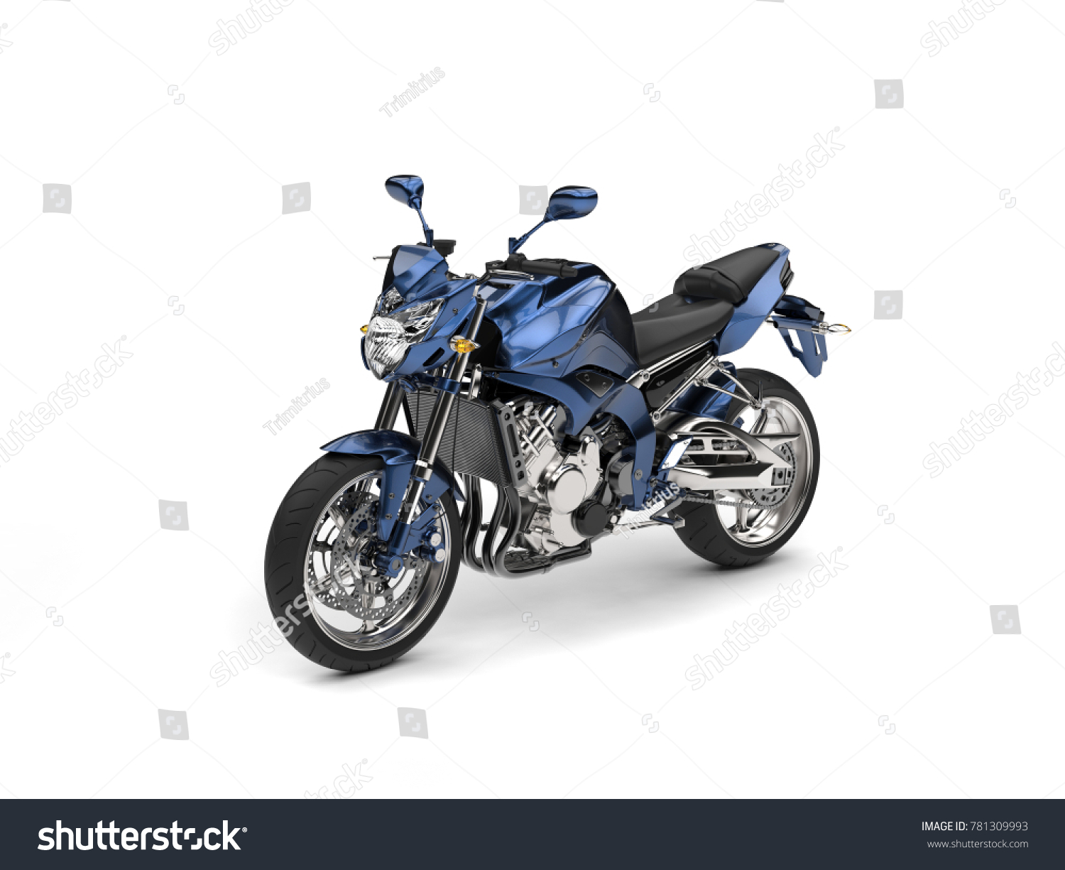 motorcycle photography d  Awesome metallic blue modern motorcycle - studio shot - 3D ...
