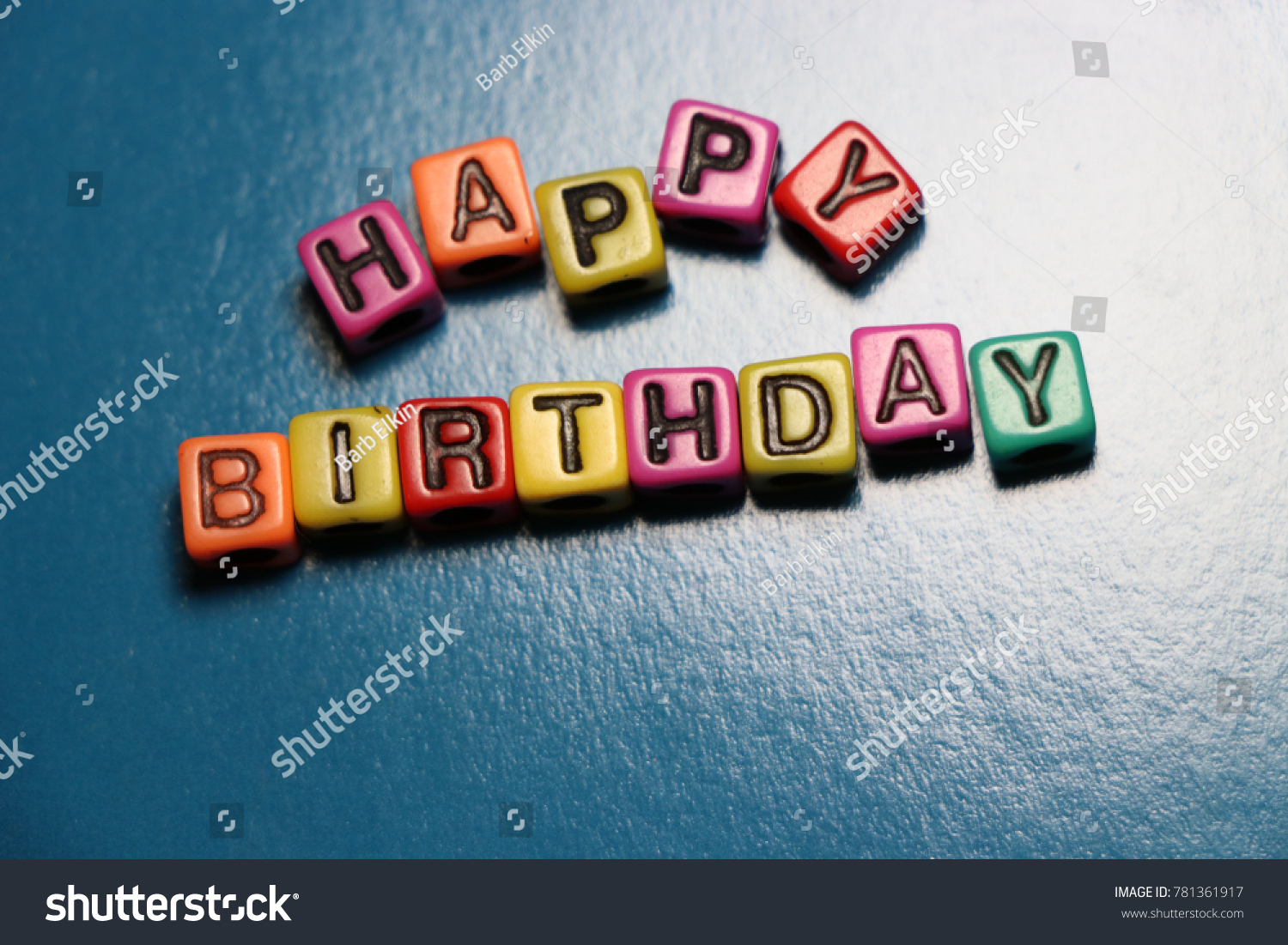 Happy birthday party card invitation 3 d stock photo safe to use happy birthday party card invitation 3d words and letters spelled in blocks and beads thecheapjerseys Images