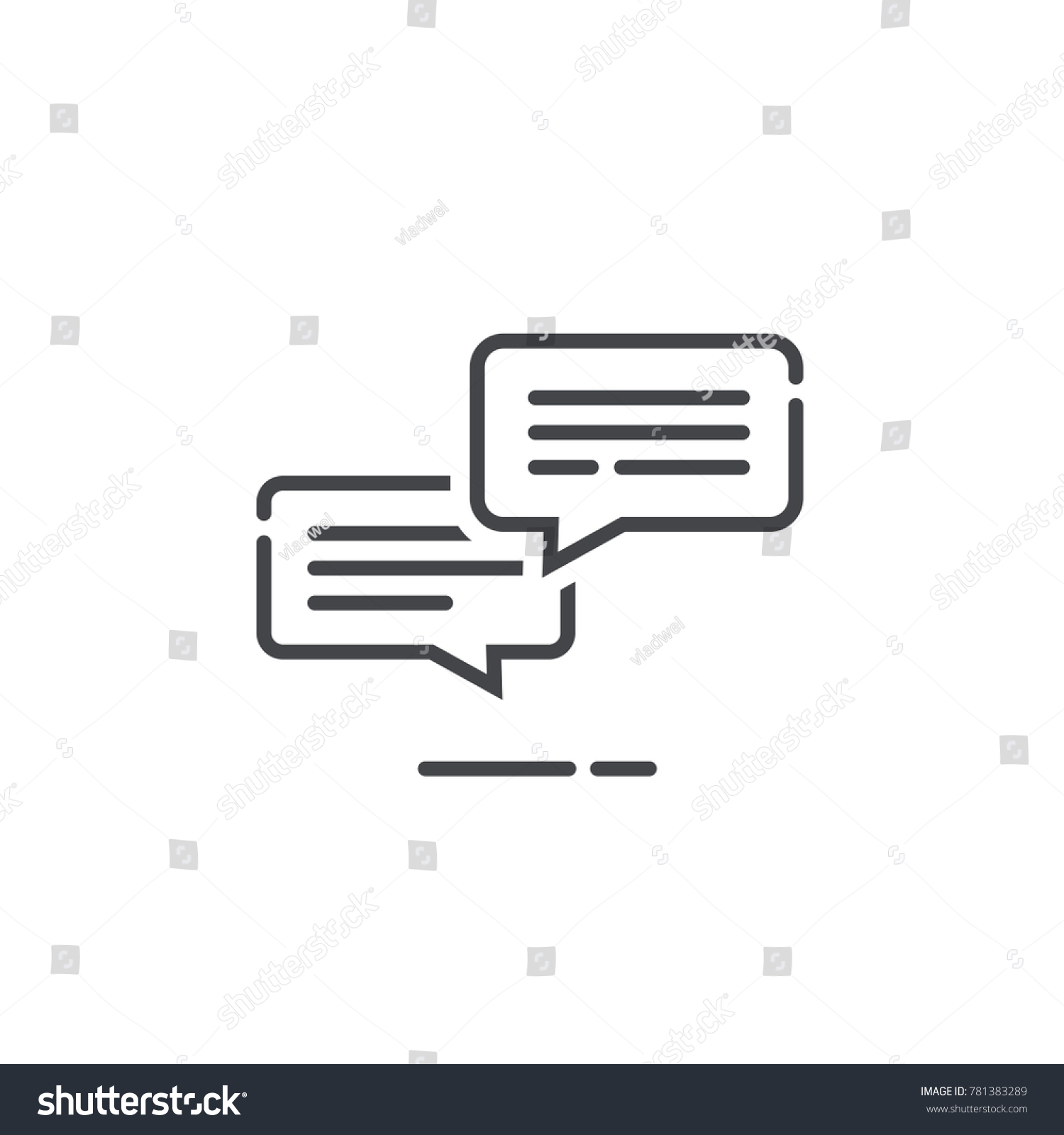 Chat messages icon notification vector illustration stock vector chat messages icon notification vector illustration line outline style sms conversation bubbles with text biocorpaavc Images