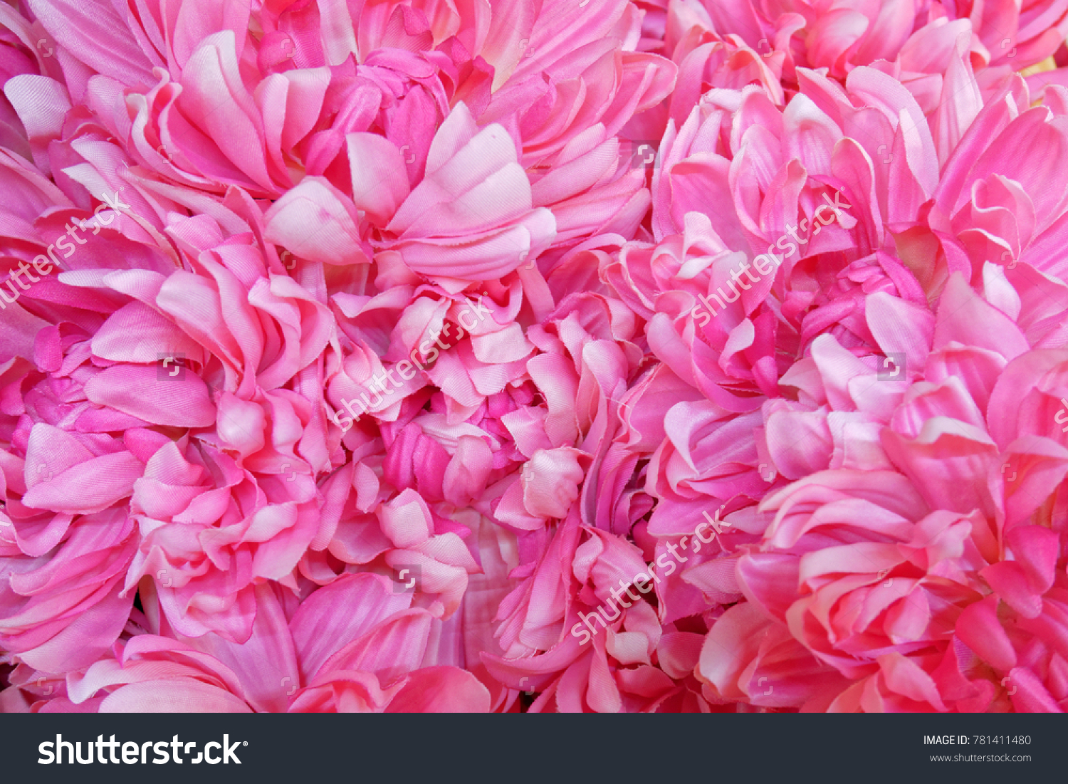 Vibrant Violet Pink Fake Flowers Background Stock Photo Edit Now