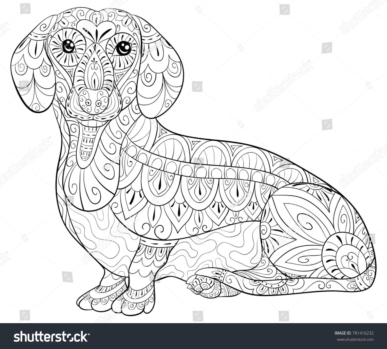 Capybara rodent animal fashion vector illustration. Lace pattern ...