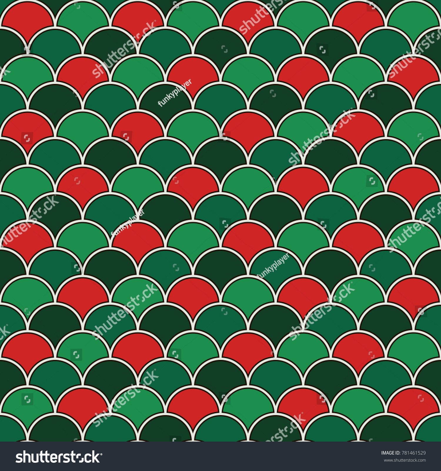 Christmas Color Fish Scale Wallpaper Asian Stock Vector 781461529 ...