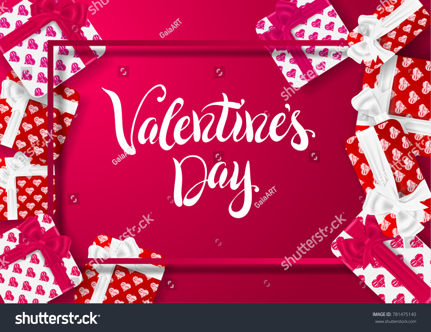 Happy valentines day design greeting card stock vector 781475140 happy valentines day design for greeting card can be used on banners or web kristyandbryce Choice Image