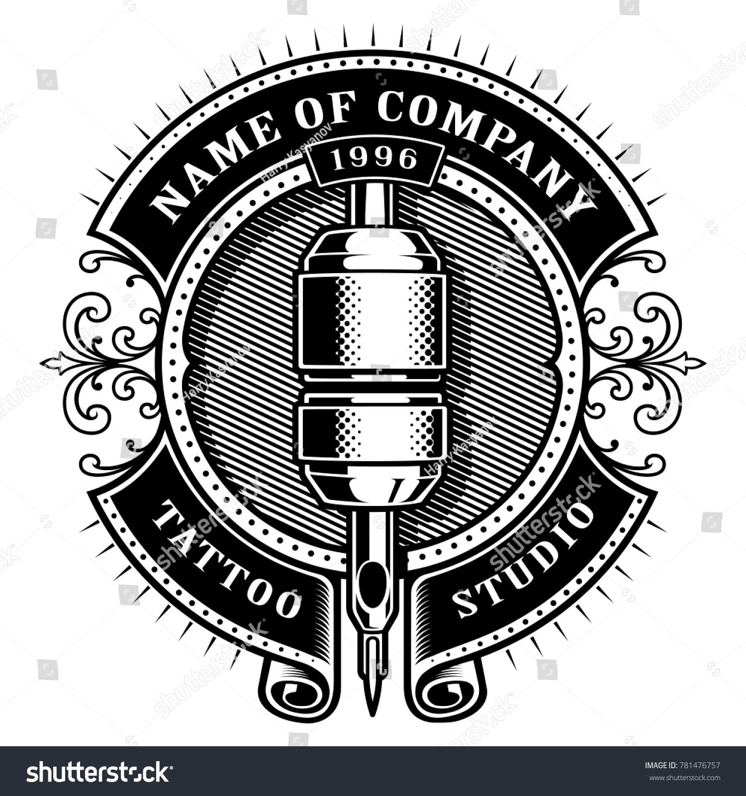 Tattoo studio logo vector & photo (free trial)   bigstock.