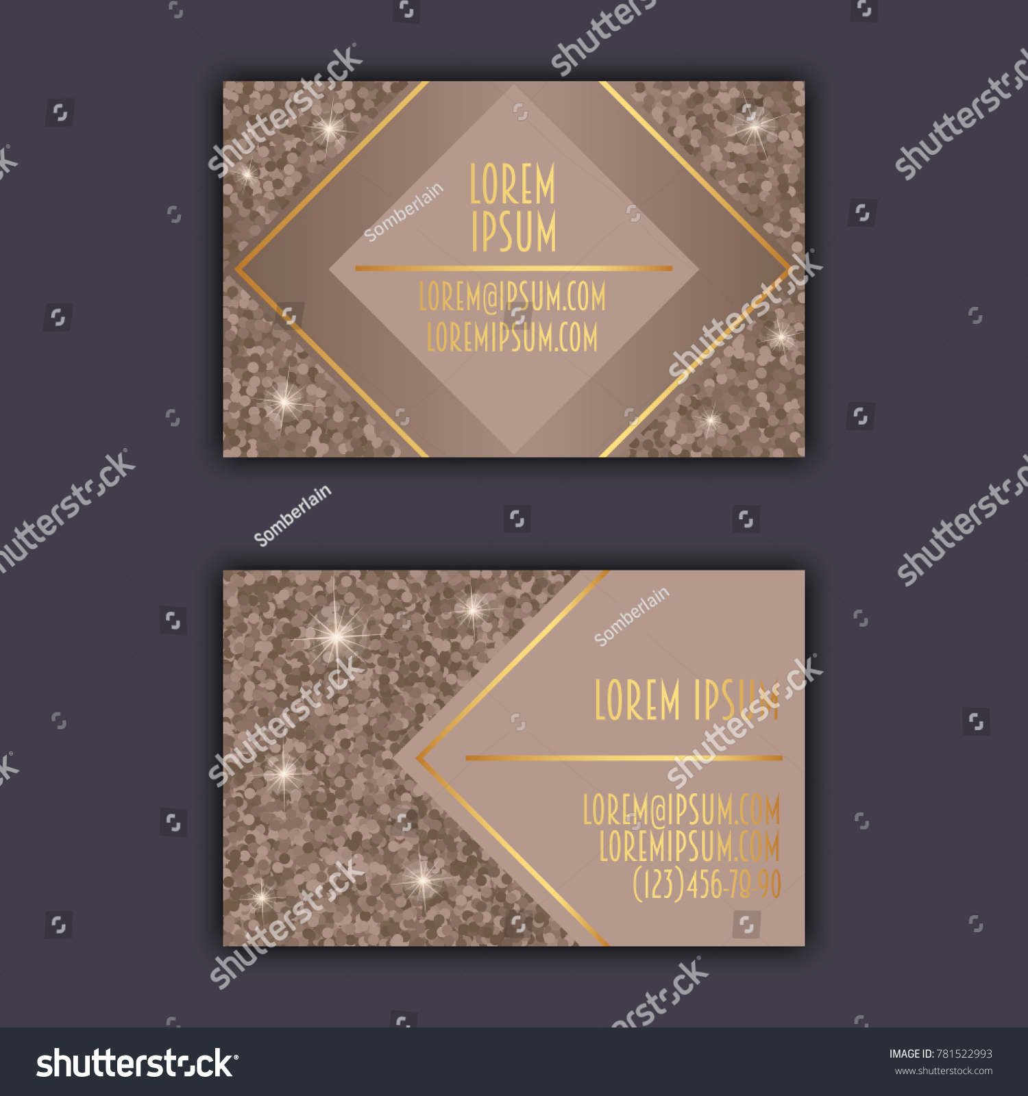 Business Card Templates Glitter Shining Background Stock Vector ...
