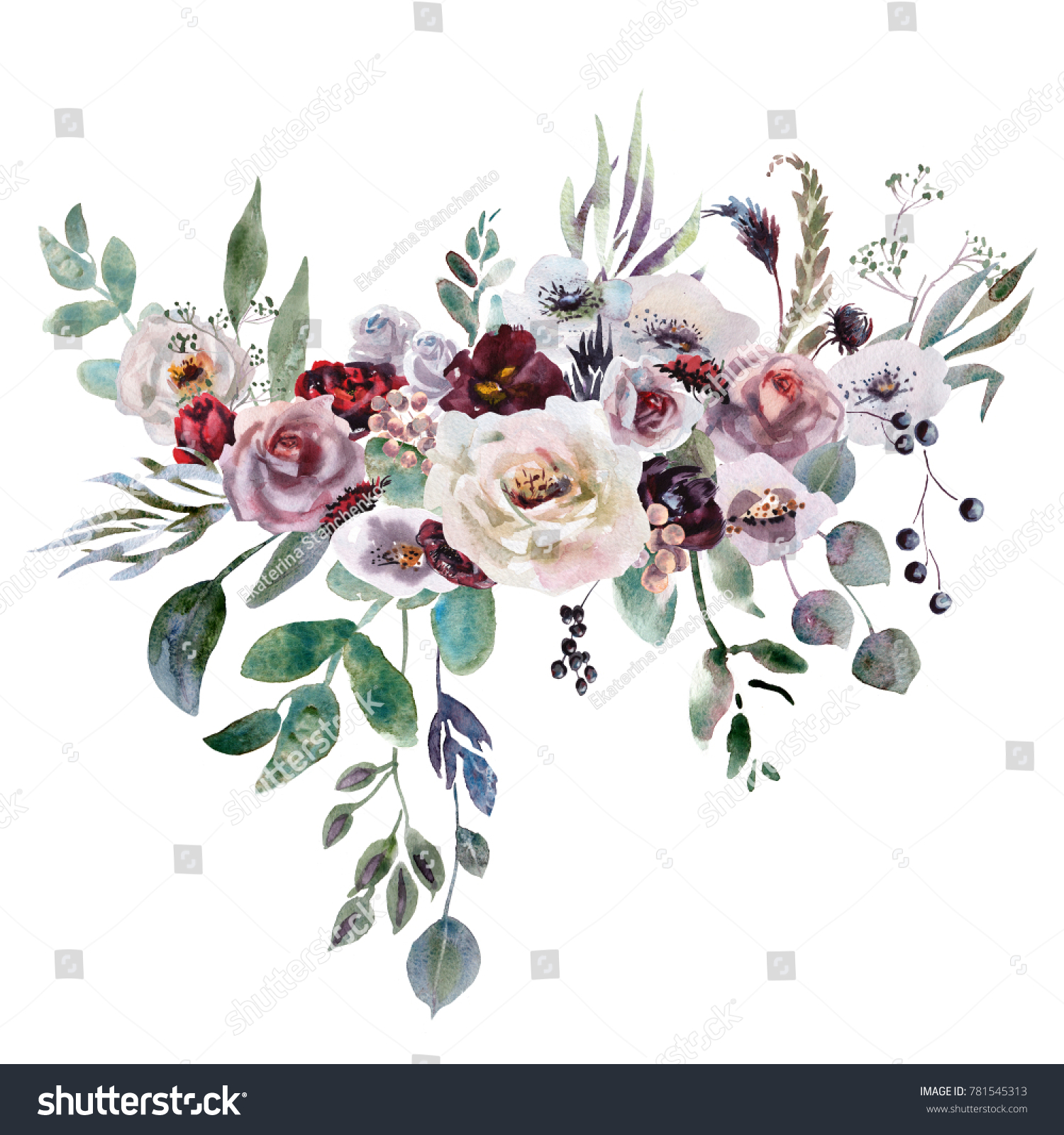 Royalty free stock illustration of wedding bridal bouquet green wedding bridal bouquet green and purple flowers ornament izmirmasajfo