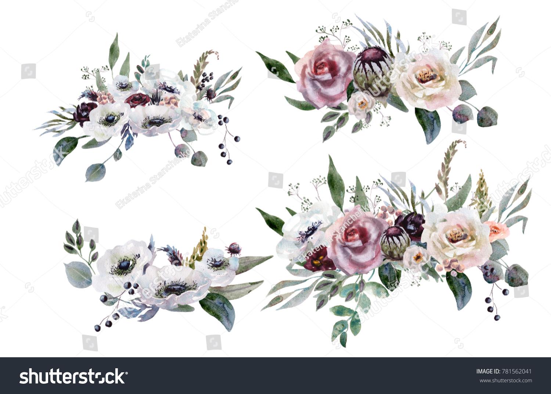 Wedding bridal bouquet green and purple flowers ornament ez canvas izmirmasajfo