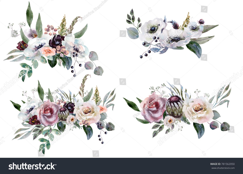 Wedding Bridal Bouquet Green And Purple Flowers Ornament Ez Canvas
