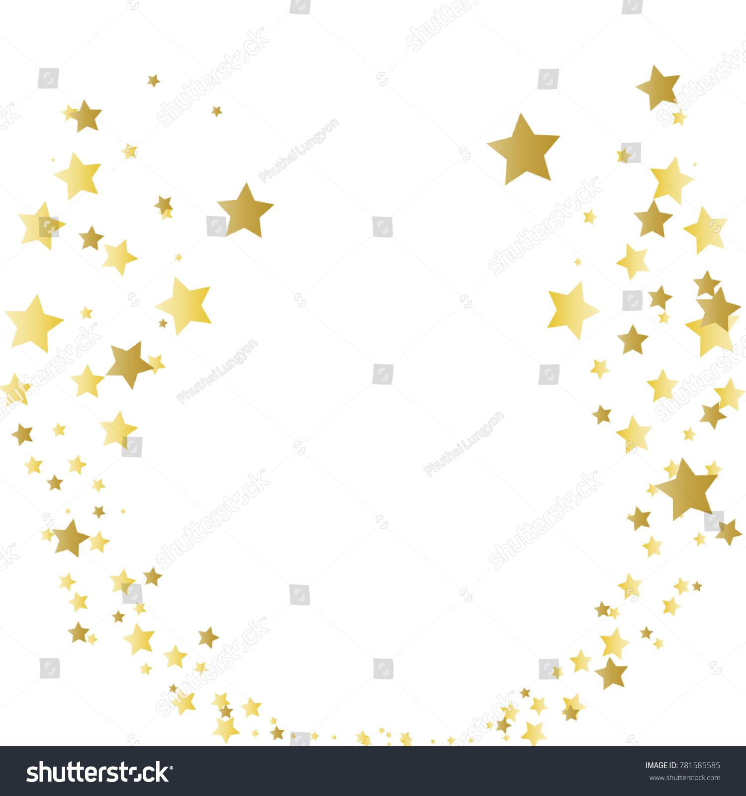 christmas gold stars confetti falling background stock vector rh shutterstock com confetti vector free vector confetti png