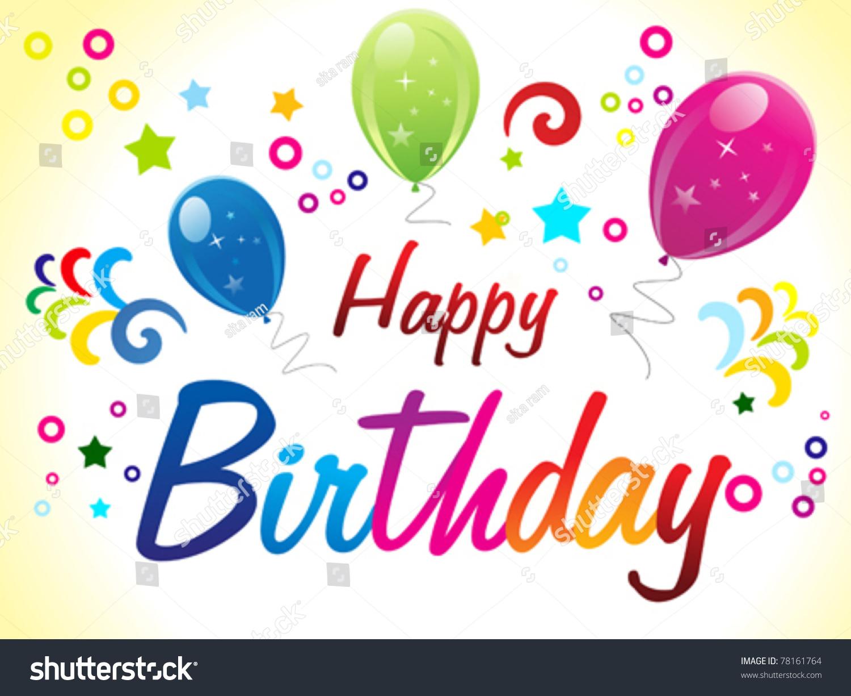 Abstract Birthday Card Text Vector Illustration Vector – Text Birthday Card