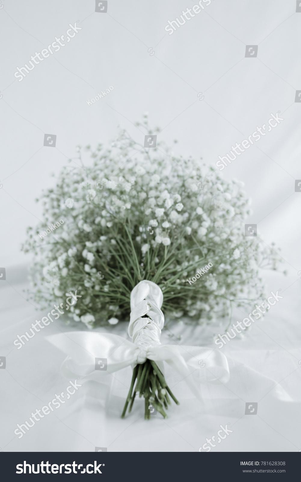 Wedding Bouquet White Gypsophila Babys Breath Stock Photo Edit Now