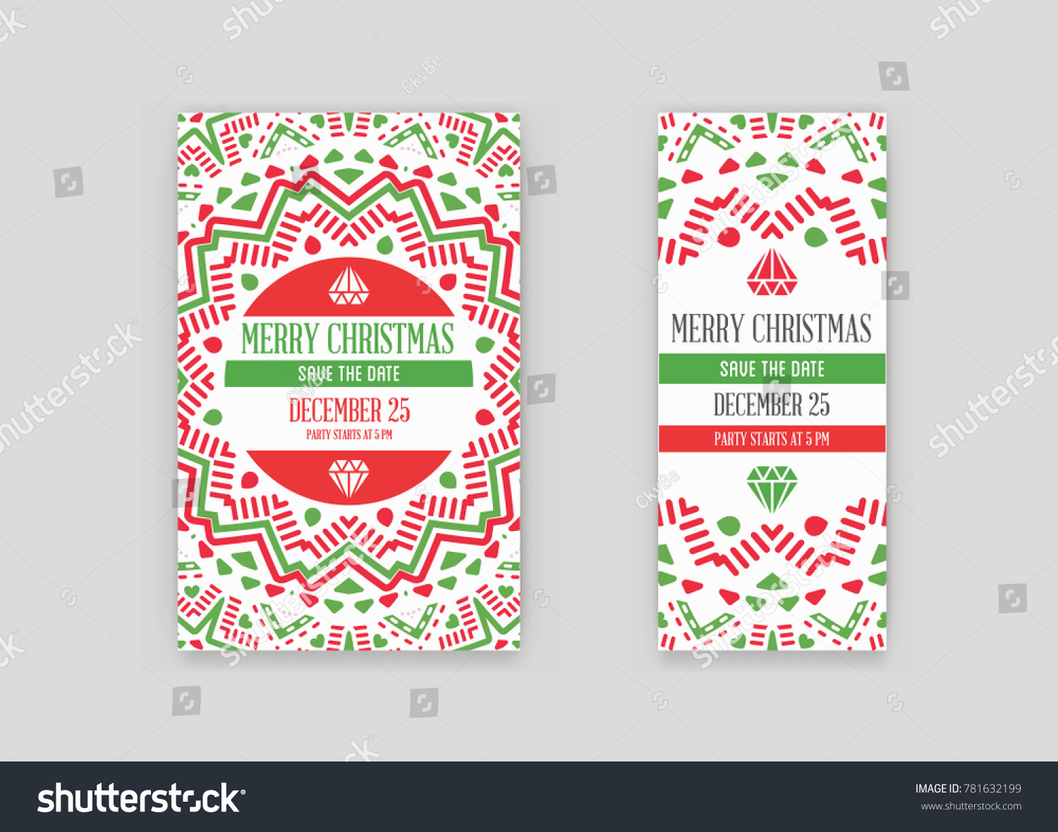 set raster happy new year merry stock illustration 781632199
