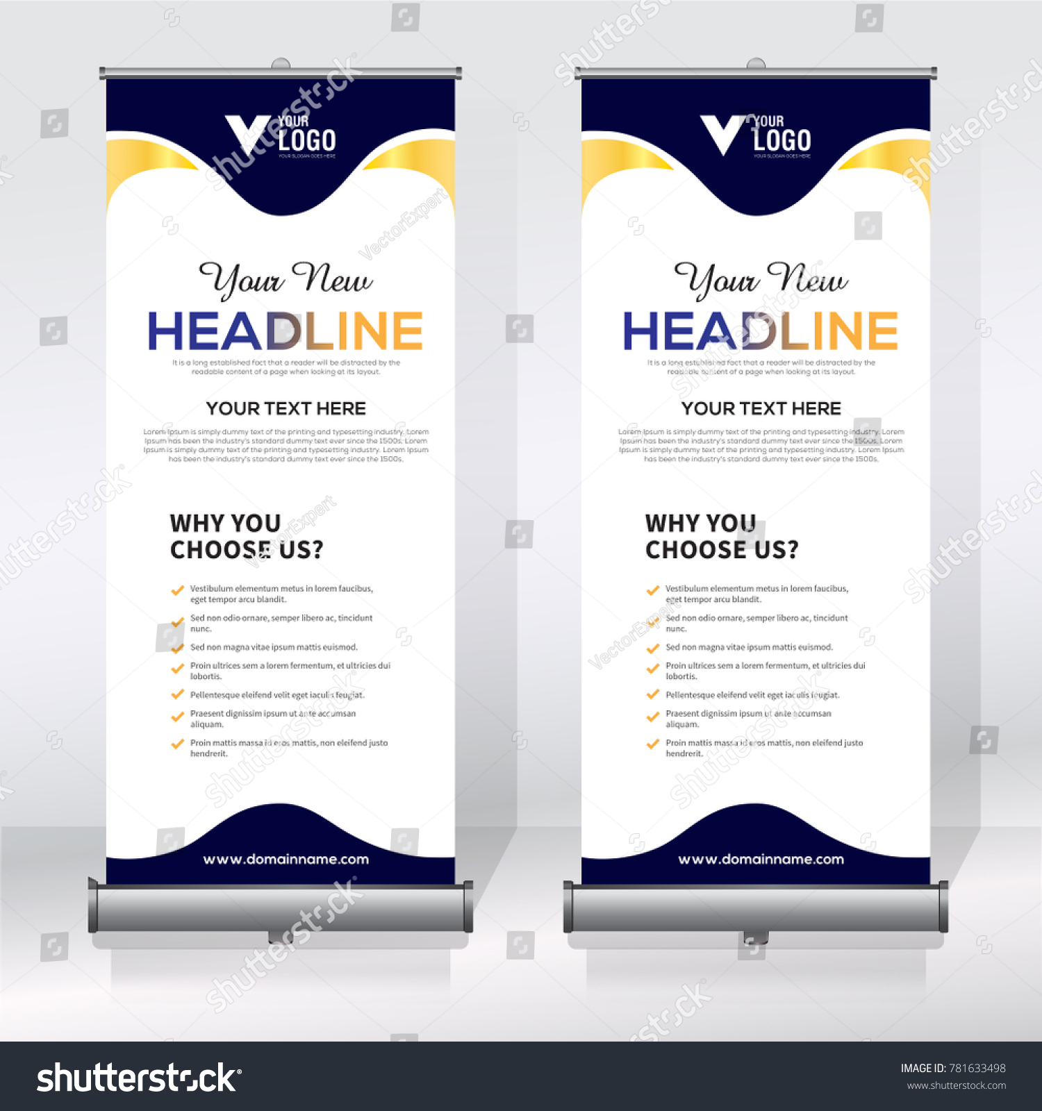 Roll Banner Design Template Abstract Background Stock Vector (Royalty Free)  781633498