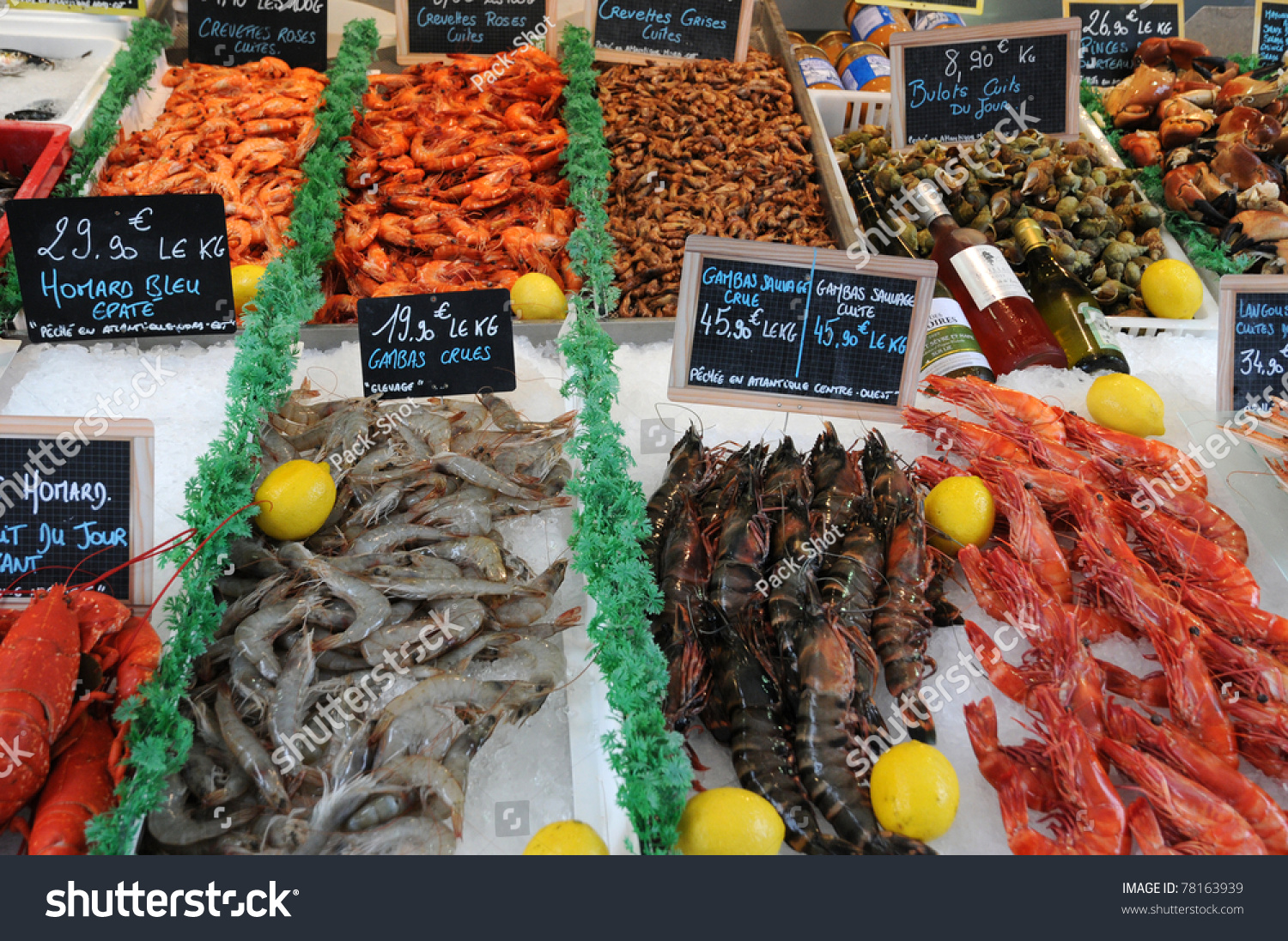 France stall seafood trouville fish market stock photo for Seafood fish market