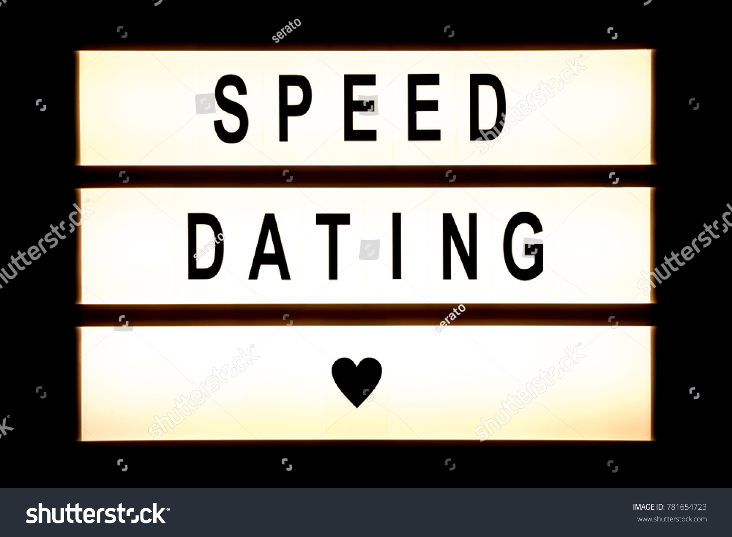 Speed dating hanging light box sign board. #781654723