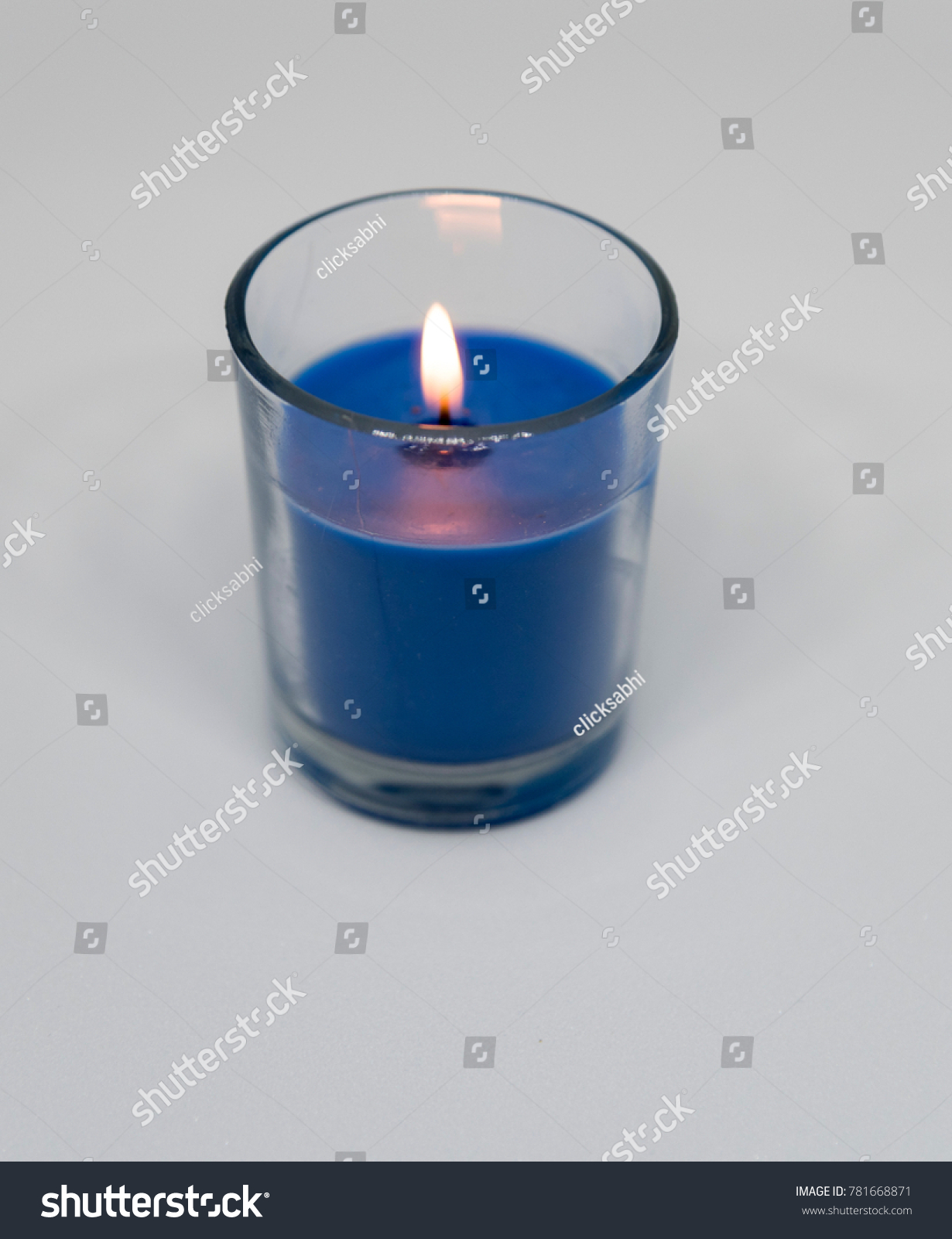 Beautiful Blue Colour Candle On White Stock Photo 781668871 ... for Blue Candle White Background  58cpg