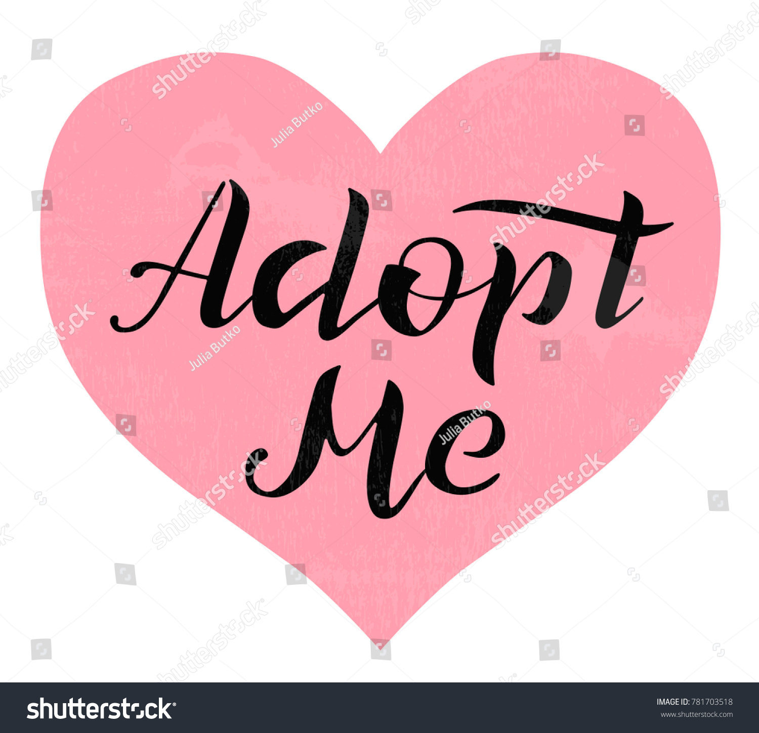 Hand Drawn Adopt Me Lettering Text Stock Vector Royalty Free
