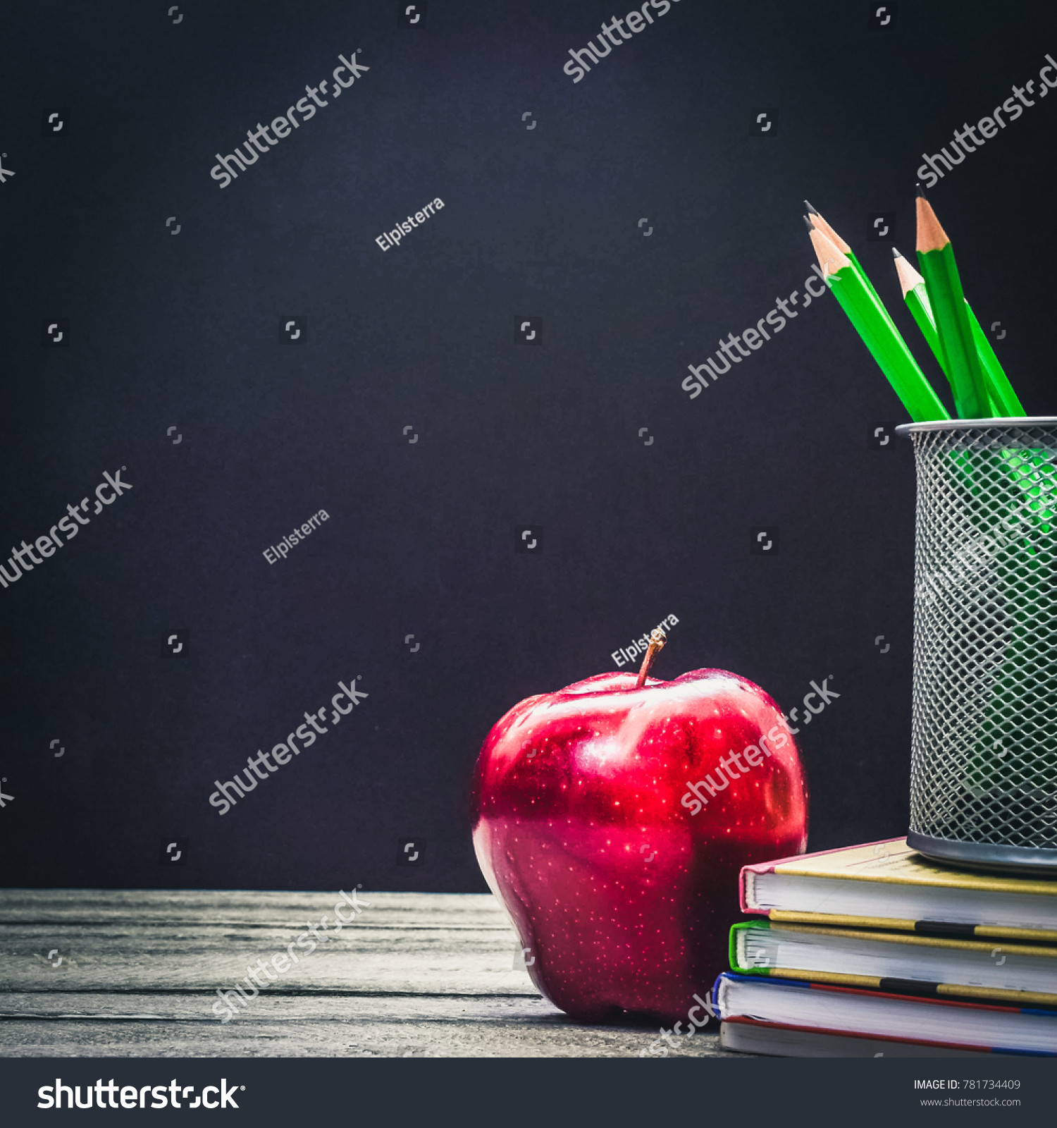 Back School Education Concept Classroom Apple Stock Photo 781734409