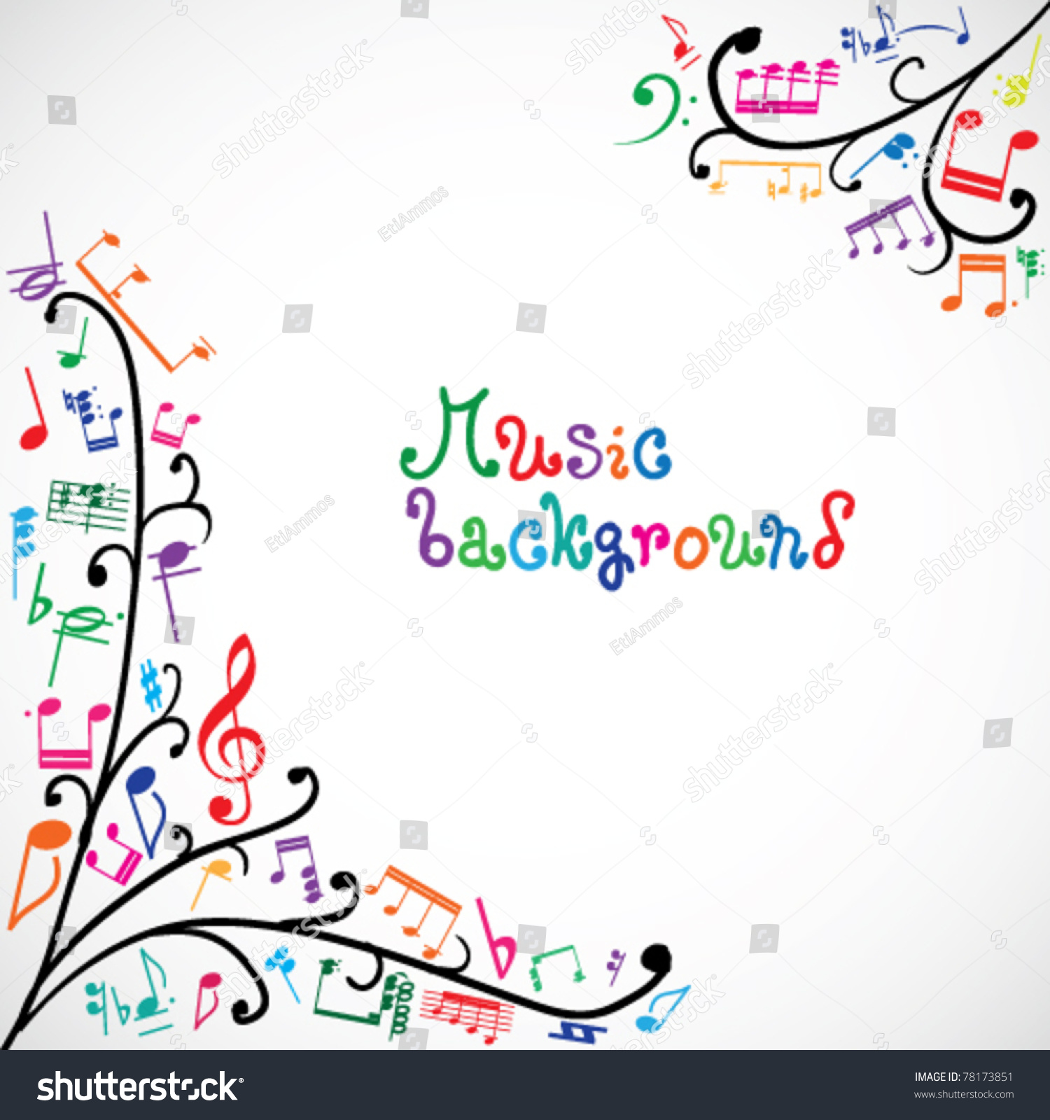 music notes backgrounds floral - photo #18