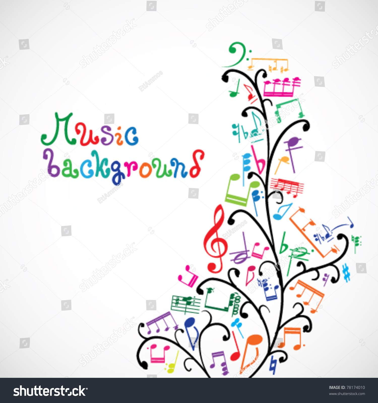 music notes backgrounds floral - photo #15