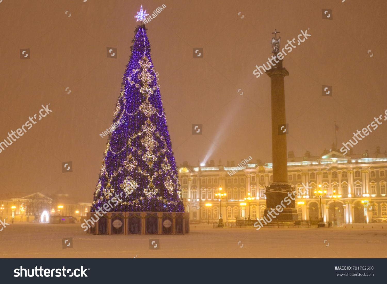 Christmas Tree On Main Palace Square Stock Photo (Edit Now ...