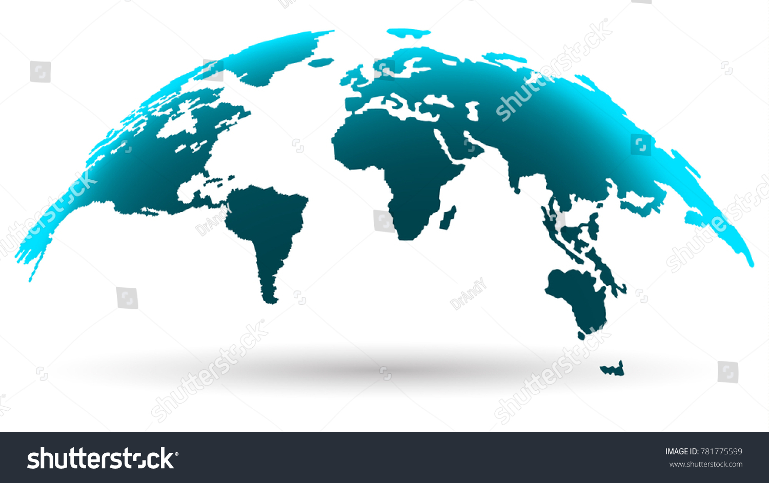 Modern World Map Modern World Map Isolated On White Stock Vector (Royalty Free  Modern World Map
