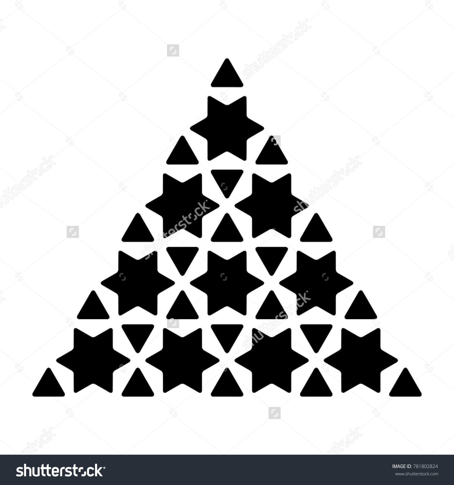 Islamic Star Based Shape Element Graphic Stock Vector (Royalty Free ...
