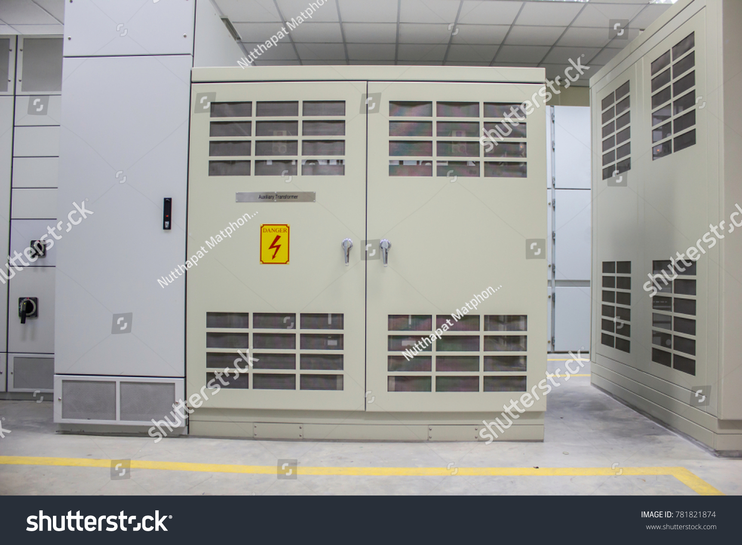 Dry Type Transformer Install Electrical Room Stock Photo